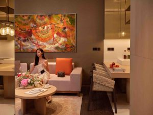 Phòng khách sang trọng trong căn hộ The Prime Collection